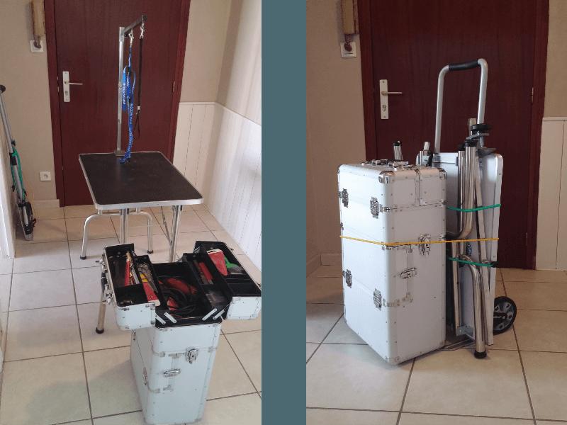 halteopoils toiletteur lyon materiel table